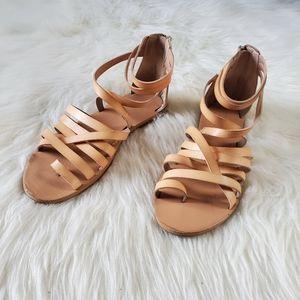 Mossimo Tan Strappy Anke Strap Gladiator Sandals